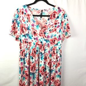 New RAGS AND COUTURE Women's Floral Maxi Dress XXL